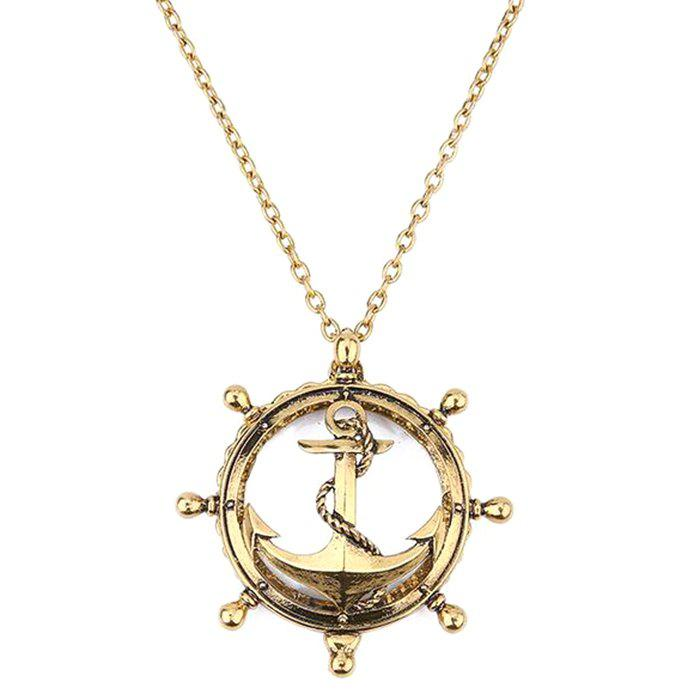 Latest Creative Anchor Hollow Magnifying Glass Necklace Long Retro Personality Pendant