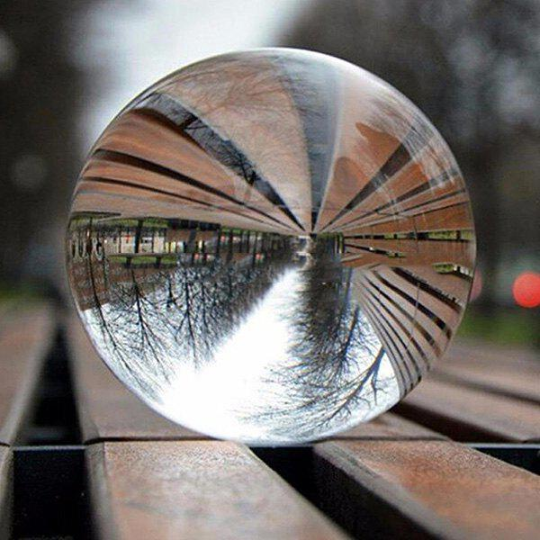 Unique Clear Crystal Ball Healing Sphere Photography Props Photo Gifts Children Game Outdoor Toys