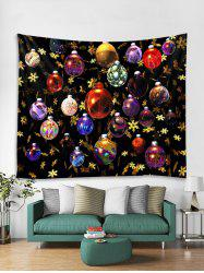 Christmas Colorful Balls Print Tapestry Wall Hanging Decoration -