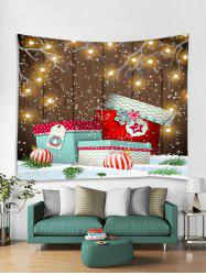Christmas Gifts Ball Print Tapestry Wall Hanging Decoration -