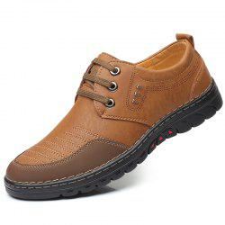 Men Comfortable Leather Shoes Lace-up Casual -