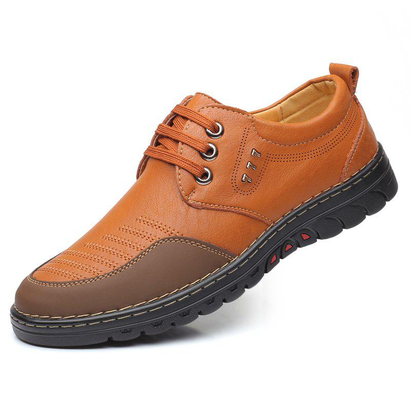 Latest Men Comfortable Leather Shoes Lace-up Casual