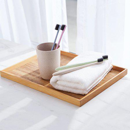 Outfit Wheat Straw Portable Bamboo Charcoal Soft Hair Toothbrush