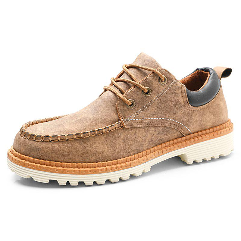 New Men's Leather Casual Shoes Trend Durable