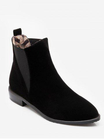 Plus Size Pointed Toe Ankle Chelsea Boots