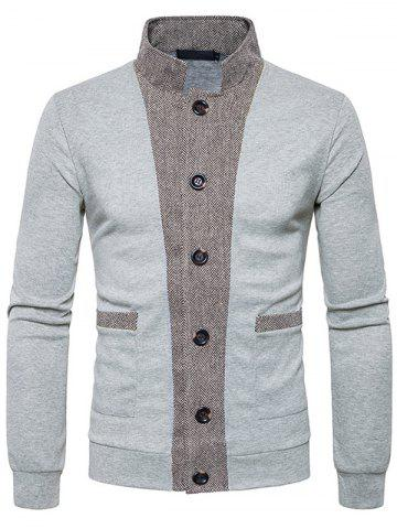 Men's  Sweater Openwork Classic Threshold Cuffs Color Cardigan