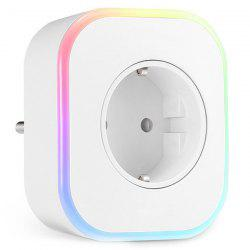 EU Plug Smart USB Night Light Socket -