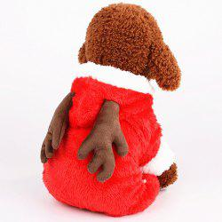 322 Christmas Thicken Four-legged Style Pet Clothes -