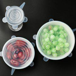 Multi-functional High-temperature Preservation Cover Silicone Lid 6pcs -