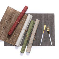 European Style PVC Placemat Anti-slip Insulation Bamboo Pattern Table Mat 1PC -