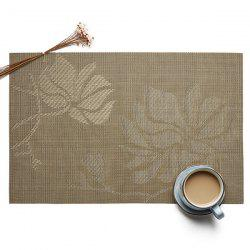 Insulation Environmental Non-slip European Jacquard Square Woven Teslin PVC Placemat -