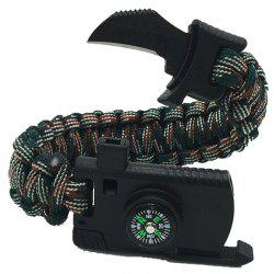 Umbrella Rope Outdoor Survival Compass Bracelet -
