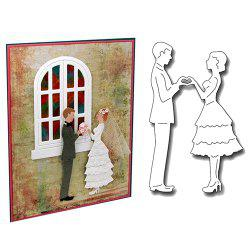 Newlyweds Dancing Knife Mold Cutting Die -