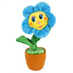 Creative Plush Toys Will Sing The Sun Flower Dolls Will Dance Electric Toys -