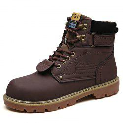 Men Snow Boots Fashion Solid Color Design -
