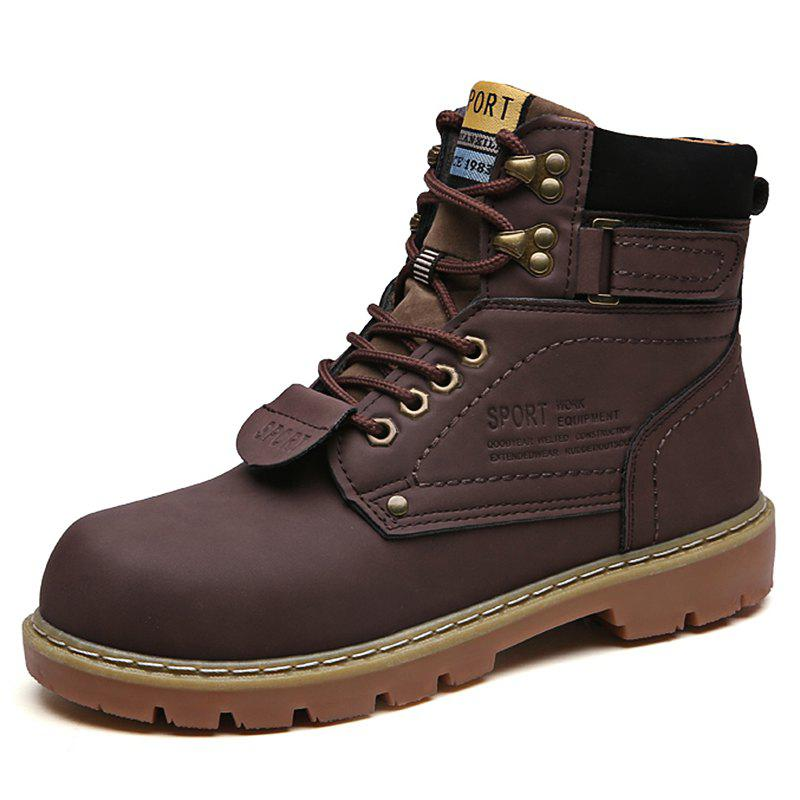 Shop Men Snow Boots Fashion Solid Color Design