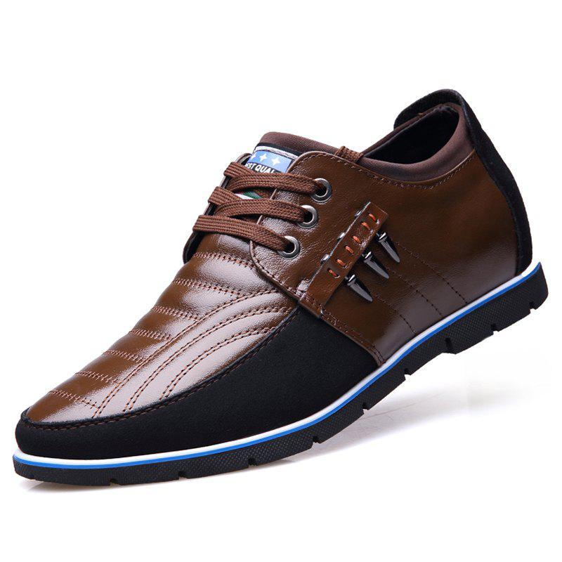 Discount Men Business Casual Leather Shoes Comfortable Lace-up