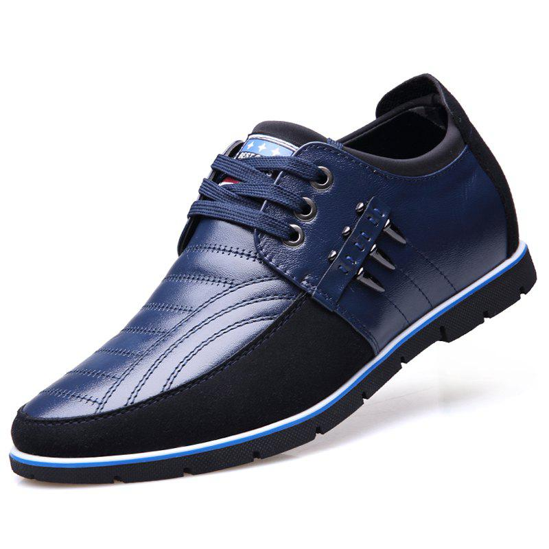 Trendy Men Business Casual Leather Shoes Comfortable Lace-up