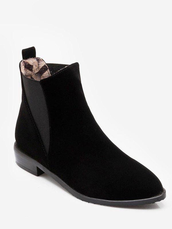 Hot Plus Size Pointed Toe Ankle Chelsea Boots