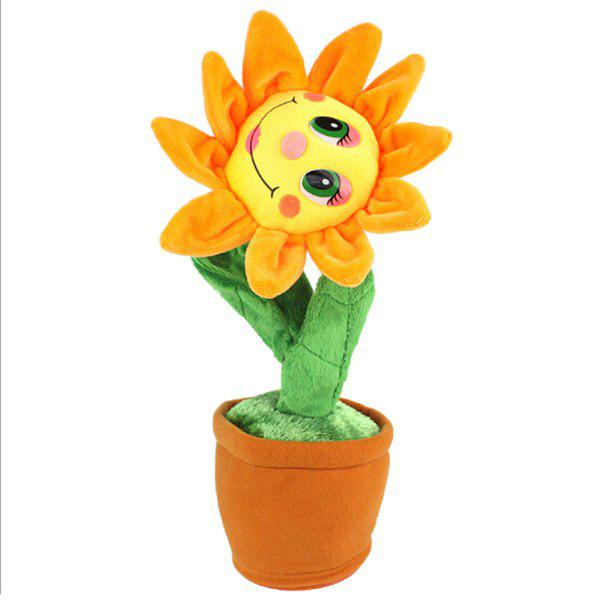 Creative Plush Toys Will Sing The Sun Flower Dolls Will Dance Electric Toys