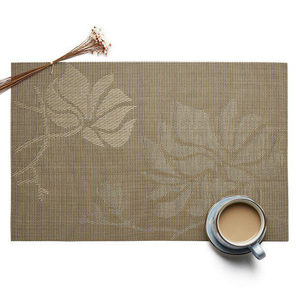 Chic Insulation Environmental Non-slip European Jacquard Square Woven Teslin PVC Placemat
