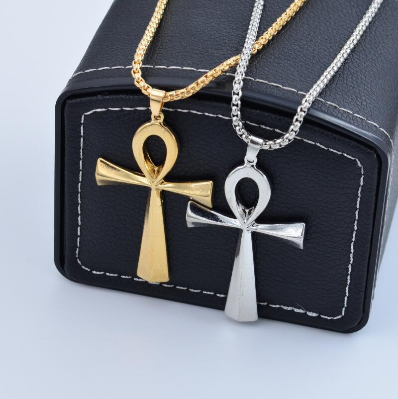 Outfit Hip Hop Necklace Egyptian Anhe Key Cross Pendant Necklace