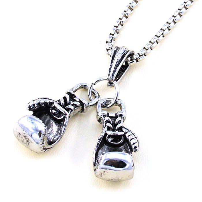 Store Male Double Glove Alloy Casting Pendant Fashion Personality Necklace
