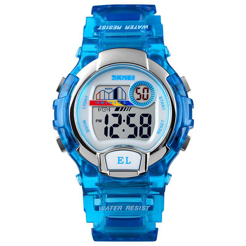 Affordable Skmei Female Fashion Colorful Luminous Display Transparent Shell Sports Electronic Watch