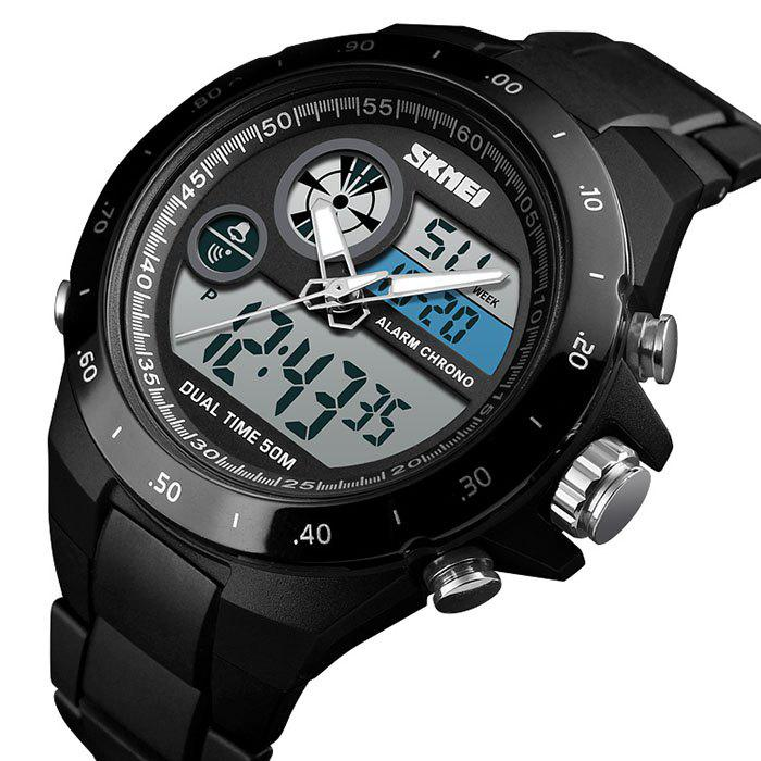 Online Skmei 1429 Male Outdoor Multi-function Dual Display Chronograph Stopwatch Electronic Watch
