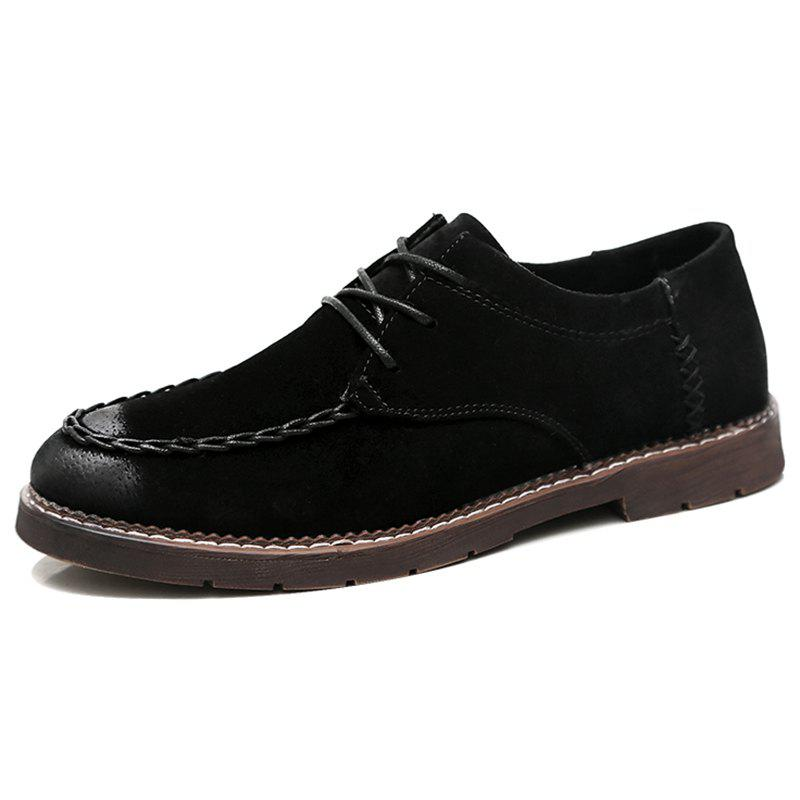 Unique Men's Fashion Handmade Stitching Shoes