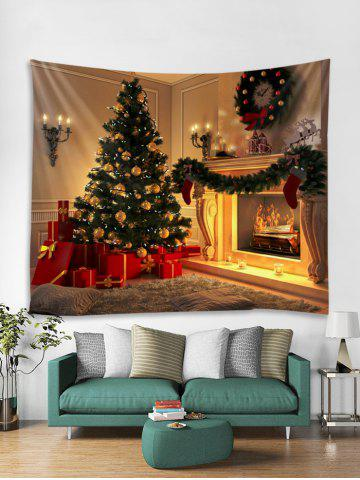 christmas tree fireplace tapestry wall hanging decoration