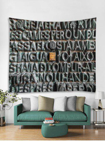 Stone Letters Print Tapestry Wall Hanging Decoration - MULTI - W91 X L71 INCH