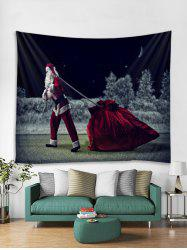 Father Christmas Gift Pattern Tapestry Art Decoration -