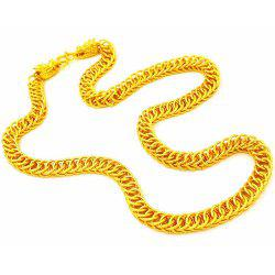 Double Faucet Necklace Plated Men Domineering Chain -