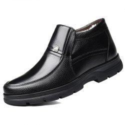 MUHUISEN 8667 Winter Cotton Casual Middle-aged Warm High-top Shoes for Man -