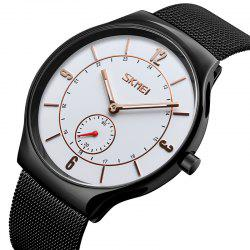 Skmei 9163 Men's Watch Fashion Small Seconds Waterproof Quartz Watch -