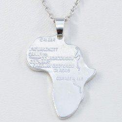 Fashion Africa Map Hip Hop Necklace Wish Pendant -