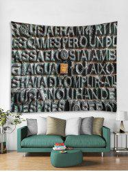 Stone Letters Print Tapestry Wall Hanging Decoration -