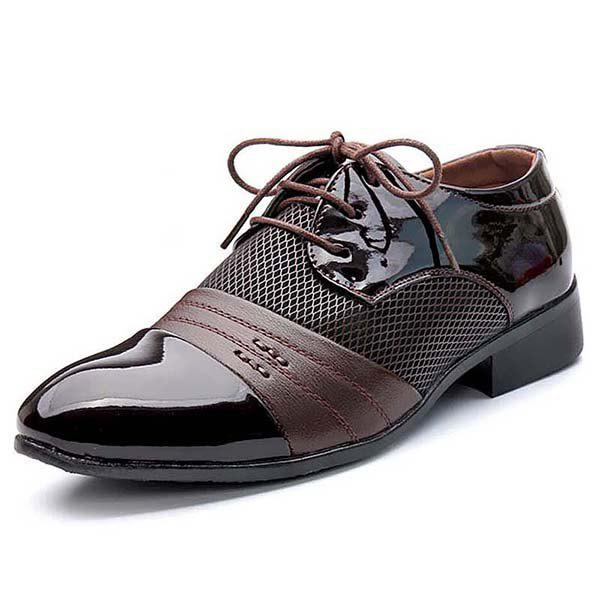 Outfit Men's Shoes Leather Lace Up Wearable