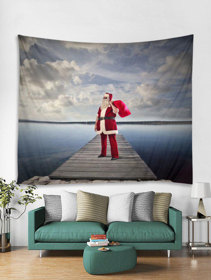 Sunglasses Father Christmas Print Tapestry Art Decoration