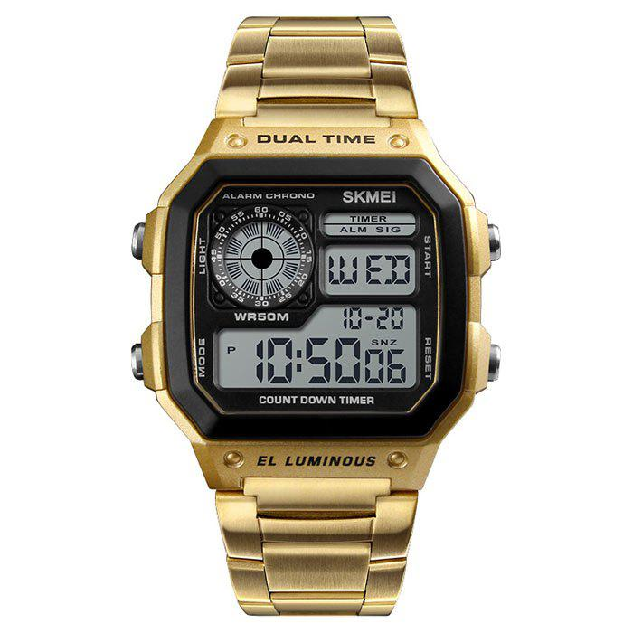 Sale Skmei 1335 Male Business Table Outdoor Sports Personality Square Digital Display Electric Watch