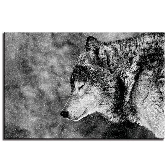 Discount A Lonely Wolf Pattern Single Oil Painting Core