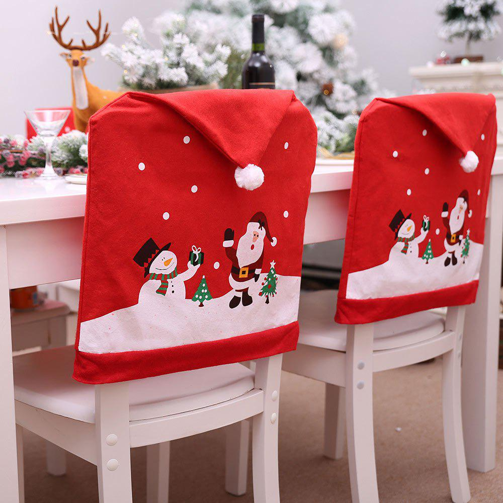 Buy New Non-woven Chair Cover Cartoon Old Man Snowman Christmas Decoration