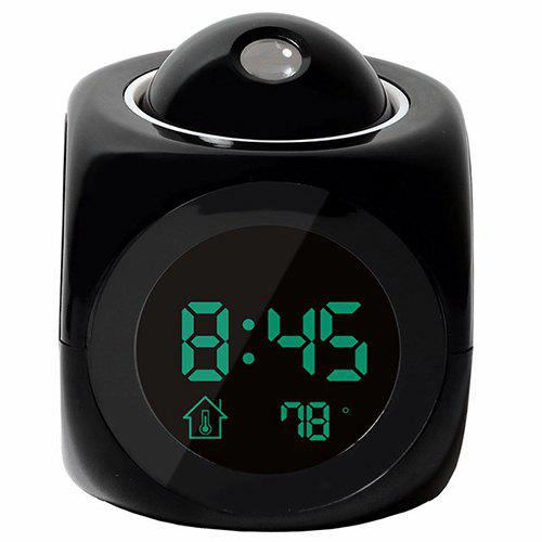 Fashion Multi-function Creative Digital LCD Wall Projection Voice Temperature Display Alarm Clock