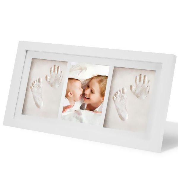 43% OFF ] 2018 Baby Hand And Foot Prints Solid Wood Photo Frame In ...