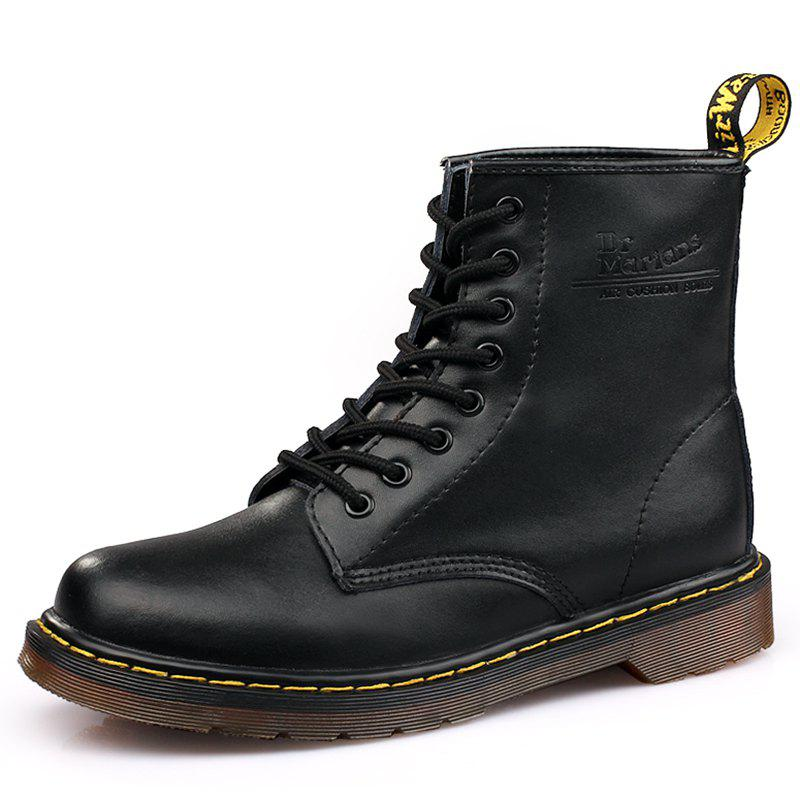 Buy Fashion Solid Color Durable Martin Boots