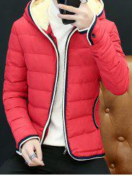 Couple'S Warm Downs Jacket Casual Thick Cotton Hat Can Be Down Parka Coat  Outdoor Sport Hooded -
