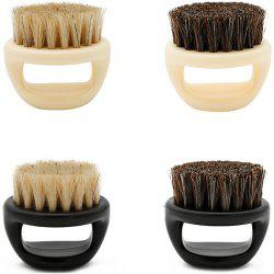 Beard Brush Shape Comb Pig Bristle Care Cleaning Ring Brush Retro Oil Head Brush 1pc -