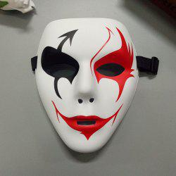 Hand-painted Hip-hop Mask Green Material Graffiti Masquerade Mask -