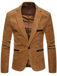 Fashion  Corduroy Color Casual Small Suit Jacket -